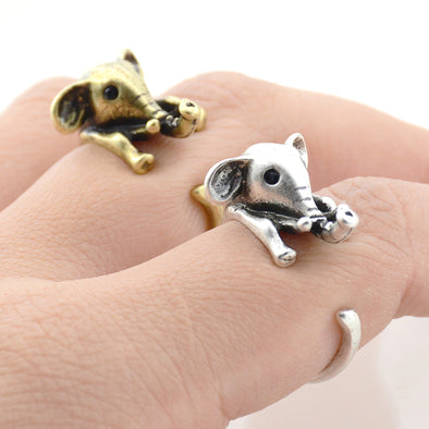 3D Baby Elephant Ring