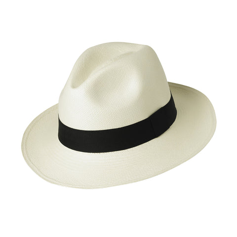 Classic Panama Hat handmade from natural straw