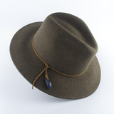 Opal Felt Hat with leather and pendant detail