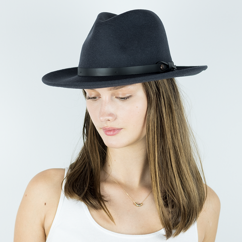 Felt Hat with Leather Band - Bigalli Denzel