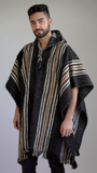 Rustic Poncho with Hoodie