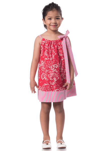 Batik Pillowcase Dress - Bubble Fish