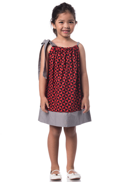 Printed Pillowcase Dress - Little Puck
