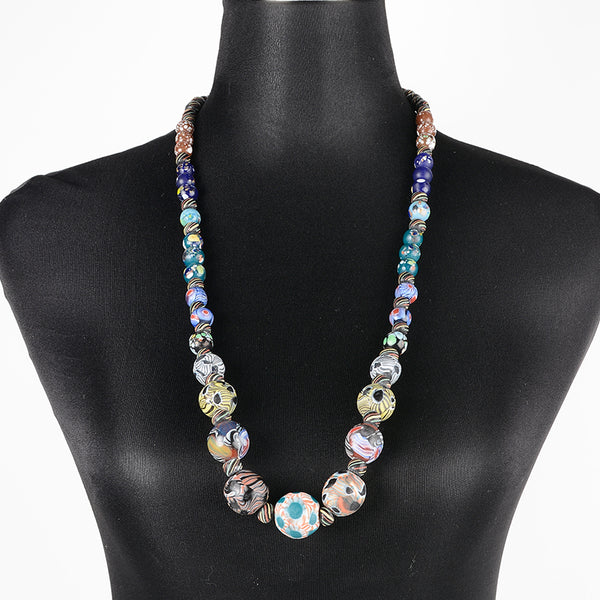 Sarawak Ceramic Beads Long Necklace - Design 5