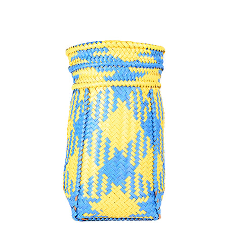 Coloured Barait Carry Basket Bag - Design A