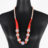 Sarawak Ceramic Beads Long Necklace - Design 8