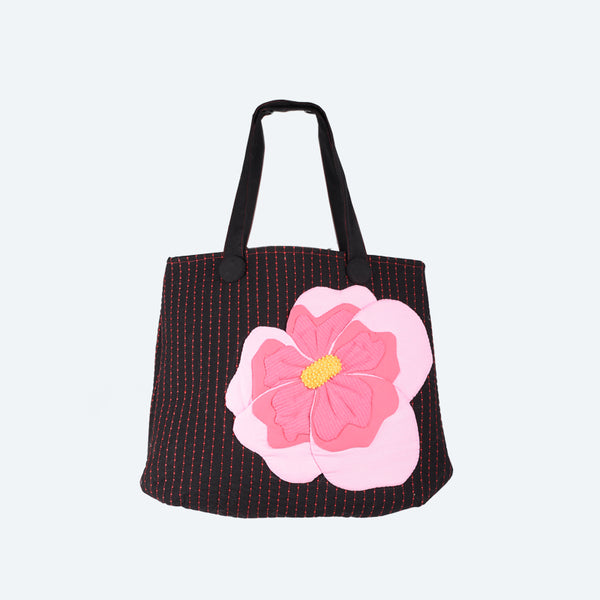 Cherry Blossom Appliqué Tote Bag