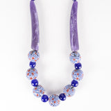 Sarawak Ceramic Beads Long Necklace - Design 6