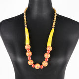 Sarawak Ceramic Beads Long Necklace - Design 7
