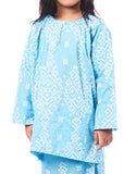 Baju Kurung Dahlia - Light Blue
