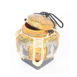 Bamboo Decorative Basket Box Extra Small - Design 2