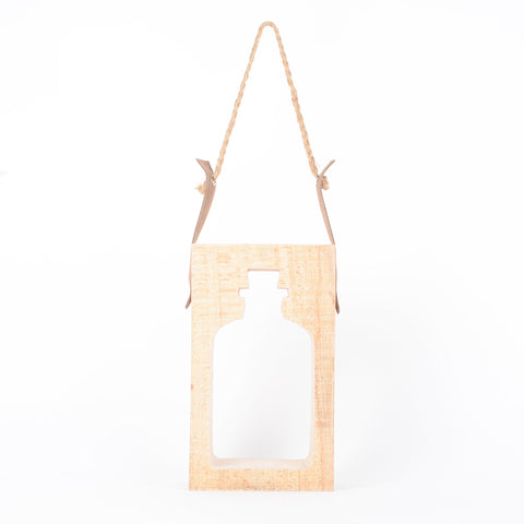 Bottle Silhoutte Hang Decor