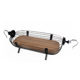 Bird cage wooden boat - Black