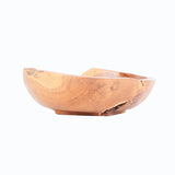 Teak wood oval bowl (small) - Design 3