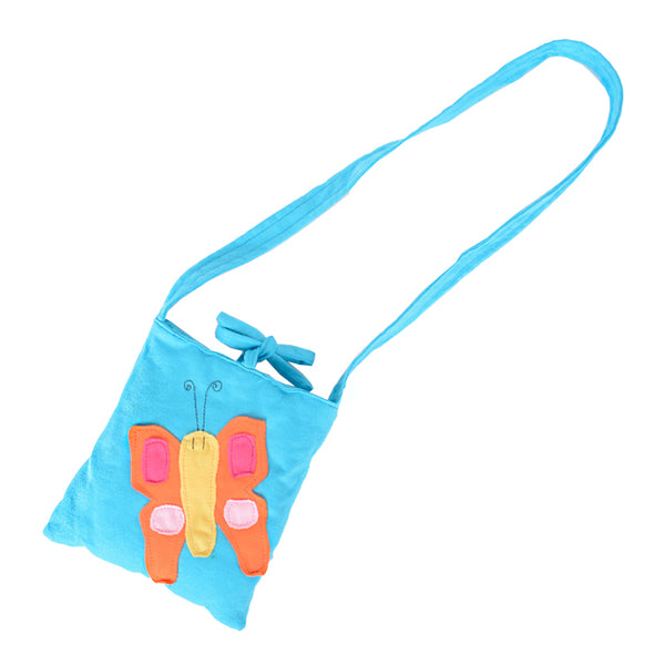 Kids Butterfly Sling Bag - Baby Blue