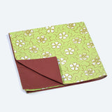 Green Daisy Batik Block Napkin Set