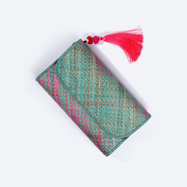 Candy Crush Pandanus Kelarai Clutch with Tassel - Design 2