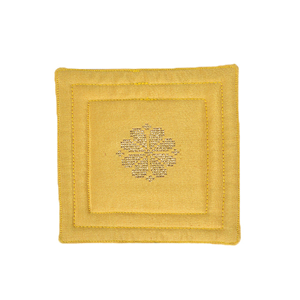 Songket Coaster set - Mustard