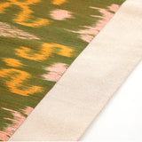 Green Ikat Table Runner