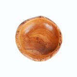 Teak wood oval bowl (small) - Design 2