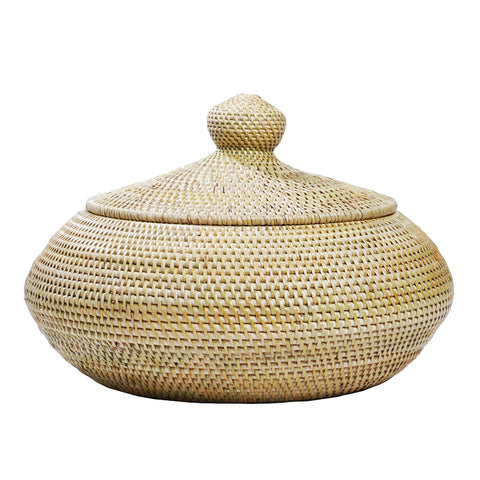Rinago Round Basket With Lid