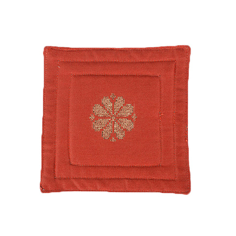 Songket Coaster set - Mandarin Orange