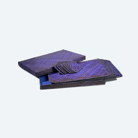 Mengkuang Placemat Set - Purple