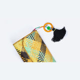 Pine Dune Pandanus Kelarai Clutch with Tassel - Design 1