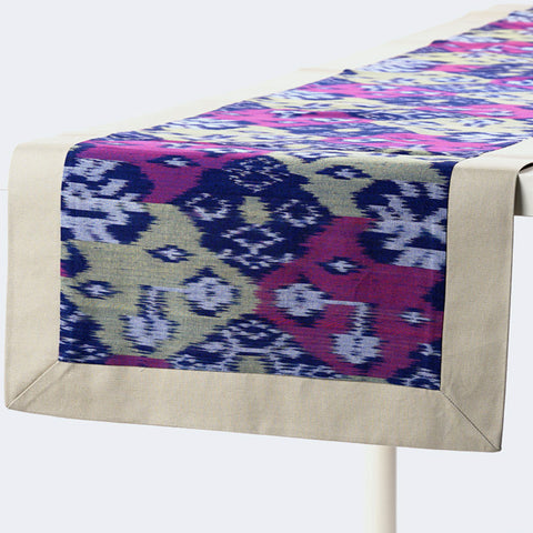 Purple Ikat Table Runner