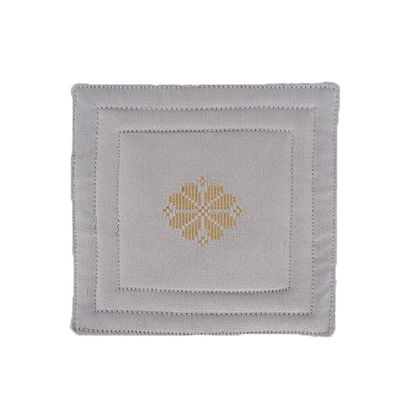 Songket Coaster set - Grey