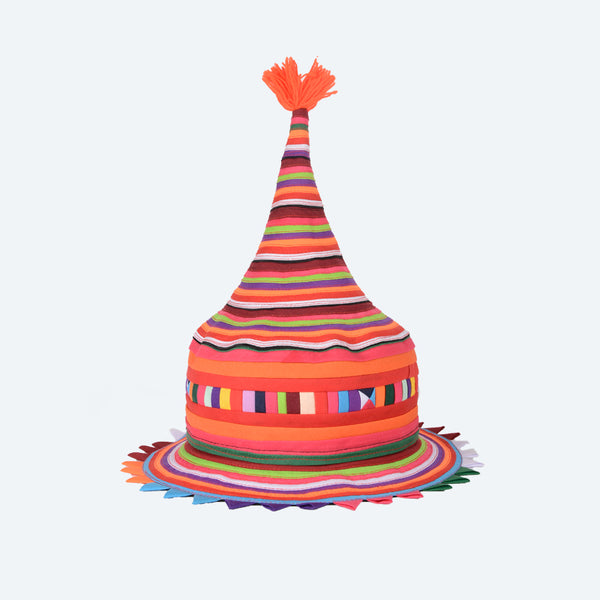 Lisu Pointy Tribal Hat - Bya Pha