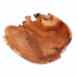 Teak wood oval bowl (large) - Design 2