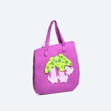 Morning Glory Appliqué Tote Bag