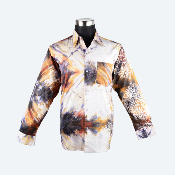 Batik Long Sleeve Shirt - Design 5