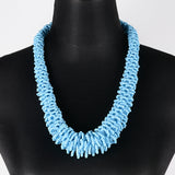 Sarawak Beads Short Necklace - Blue