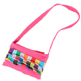 Kids Patch Sling Bag - Fuchsia
