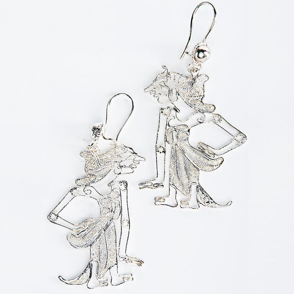 Srikandi Silver-Plated Earrings