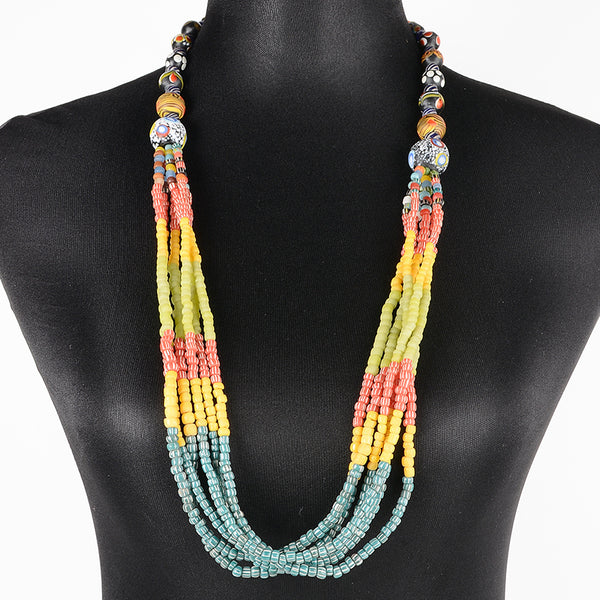 Sarawak Ceramic Beads Long Necklace - Design 2