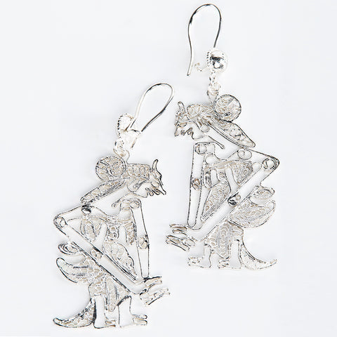 Silver-Plated Sita Earrings