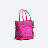 Pink Durian Strapping Basket with Tassel