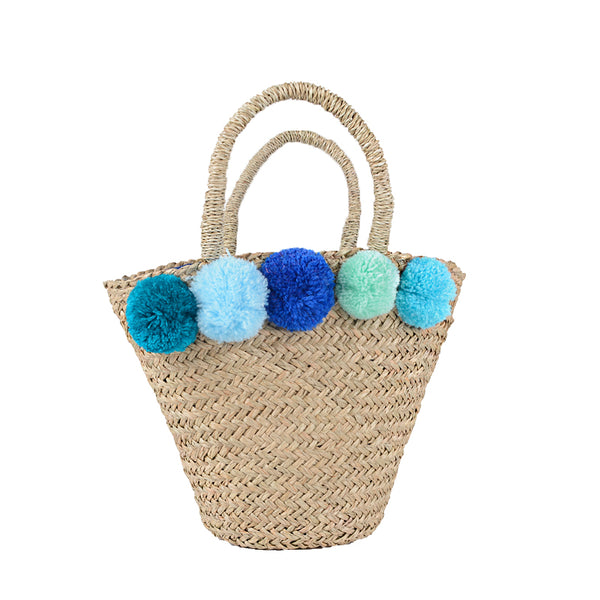 SMALL TOTE WITH POM-POM - DESIGN 1
