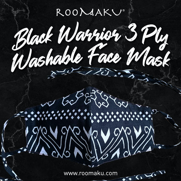 Black Warrior 3 Ply Washable Face Mask