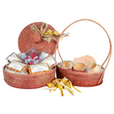 Two Tier Ribu-Ribu Hamper - Maroon