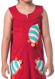 Turtle Patchwork Dress - Red