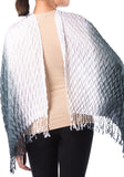 Pearl Shawl - Black & White