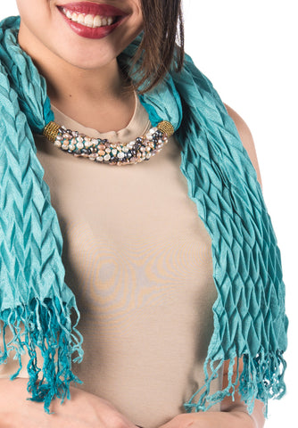 Pearl Shawl - Light Blue