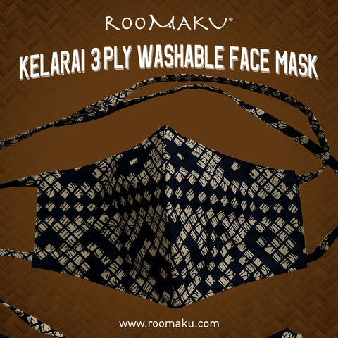 Kelarai 3 Ply Washable Face Mask