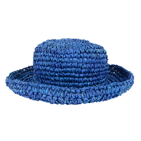 Blue Floppy Kids Straw Hat