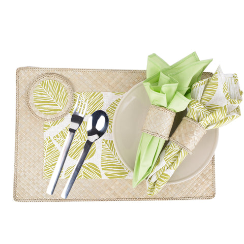 Anyaman Bonda Set with Napkin - Design 2