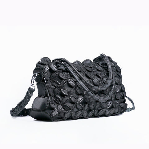 Leather Handbag - Black